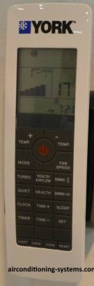 YORK Air Conditioner Remote Controller.