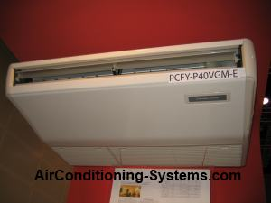 ceiling exposed air conditioner unit