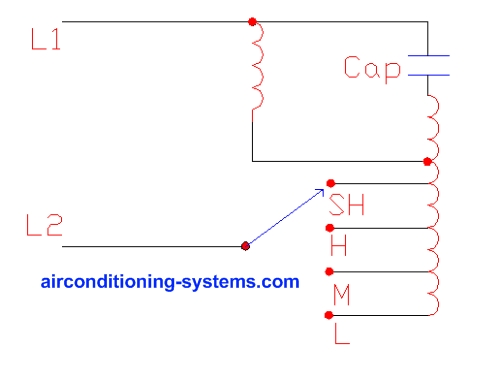 psc_motor air conditioner motors split capacitor motor wiring diagram at crackthecode.co