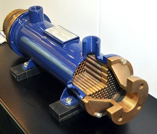 Shell and tube heat exchanger.