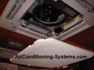 servicing cassette air conditioner unit