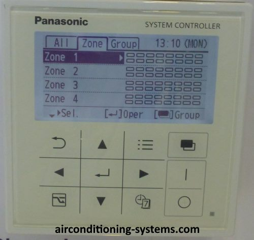Panasonic Central Controller LCD panel.